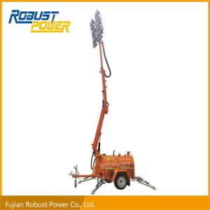 Hydraulic Telescopic Folded Lift Elevator LED Lamp Mobile Light Tower pictures & photos