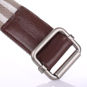 Top Grain Leather Real Leather Cotton Heavy Webbing Man Belt (RS-12015) pictures & photos