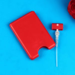 20ml Red Credit Card Perfume Hand Sanitizer Spray Bottle pictures & photos