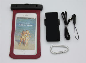 Camping Outdoor PVC Waterproof Cell Phone Cover Bag Universale with Hook Armband for 5.5inch Smart Phone (WB-V4) pictures & photos