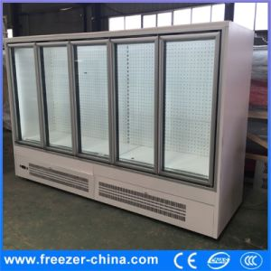 Supermarket Vertical Chiller Display Wine Cooler pictures & photos