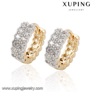 92458 Fashion CZ Charm Latest Jewelry Accessory Earring Huggie in Muticolor pictures & photos