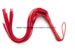 1PCS/Lot Leather Handle Whip Flogger Cat Nine Tail Adult Sex Toy Role Play Bondage pictures & photos