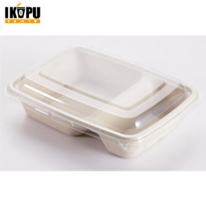 100% Biodegradable Unbleached Pulp Food Container Sugarcane Bagasse pictures & photos