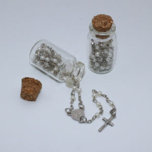 Catholic Small Glass Beads Rosaries with Cross and Glass Bottle (IO-cr394) pictures & photos