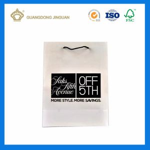 Cosmetic Packaging Paper Bag with Cotton Handle (White Matt Finishing) pictures & photos