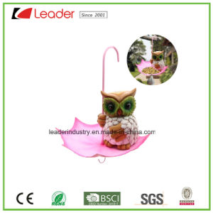 Polyresin Cow Birdfeeder with Umbrella Figurine for Home and Garden Decoration pictures & photos