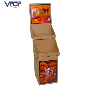 Custom 2 Layer Cardboard Carton Display Stand for Party Drinks