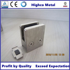 Square Glass Clamp with Round Back for Staircase Glass Railing pictures & photos