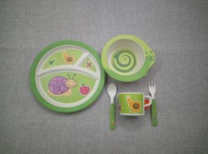 BPA Free Eco Bamboo Fiber Kitchenware Kids Dinnerware Set (YK-KS004) pictures & photos