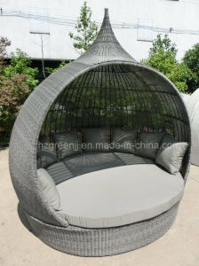 Round Circular Rattan Outdoor Sunbed pictures & photos