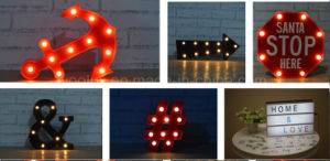 Plastic LED Decoration Craft Gift 26 Letter LED Light pictures & photos