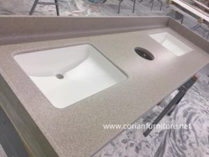 Pre Fabricated Solid Surface Kitchen Countertop/Worktop/Vanity Tops pictures & photos