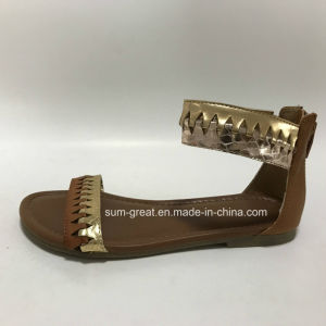 Women Sandals with PU Upper Lady Casual Shoes with Good Quality pictures & photos