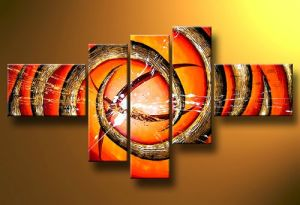 Pictures of Abstract Beautiful Paintings 5 Panel Bright Color Handmade Oil Painting Acrylic Painting Designs on Canvas