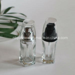 30ml Transparent Glass Bottle with Lotion Pump for Cosmetics (PPC-NEW-099) pictures & photos
