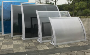 Customized Size Deck Sunshade Aluminum Frame and PC panel Awning pictures & photos