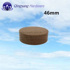 46mm Wood Grain Aluminum Screw Cap for Cosmetics Cream Jar pictures & photos