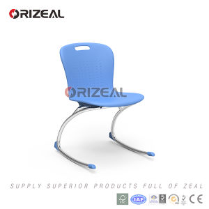 Orizeal Furniture 2017 New Product Modern PP Seat and Metal Chromed Leg Student Chair pictures & photos