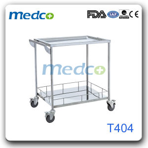 Stainless Steel 304#Hospital Equipment Function Instrument Treatment Trolley pictures & photos