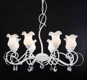 Modern Elegant White Finishing with Milky White Chandelier pictures & photos