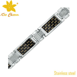 Classic Stainless Steel Mens Diamond Bracelet pictures & photos