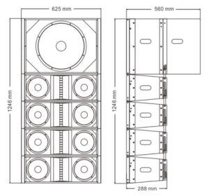Dual 8 Inch EV281 EV118s Line Array PRO Audio - Tact pictures & photos