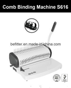 S616 manual comb binding machine pictures & photos