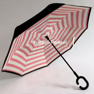 Cheap Stright Car Umbrella for Rain Reverse Umbrella