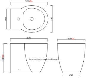 2016 New Design Ce Certification Ceramic Bidet B16002 pictures & photos