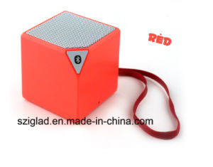 Blue Tooth Robust Bass Oil Printing Cube Stereo Wireless Speaker pictures & photos