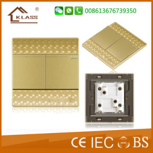 China Gold Supplier Reasonable Price 2 Gang Electrical Wall Switch pictures & photos