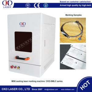 Desktop Fiber Laser Engraving Machine for Metal pictures & photos