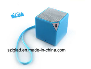 Blue Tooth Robust Bass Oil Printing Cube Stereo Wireless Mobile Speaker pictures & photos