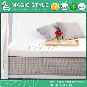 Outdoor Wicker Daybed with Cushion Patio Weaving Sunbed with Curtains Garden Rattan Sunbed Modern Wicker Daybed Pool Sunbed pictures & photos
