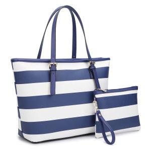 Designer Printing Tote Bag Shopping Bag Stripes Shopping Bag pictures & photos