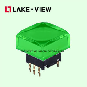 Lead Free 50mA 12VDC 15*15 Square LED Tact Switch pictures & photos