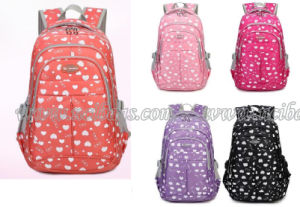 2017 Printed Polyester Girls Kids Student School Backpack Bag pictures & photos