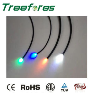 End Glow Fiber Optic Cable with LED Light Source pictures & photos