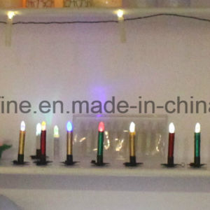 Flameless Battery Operated Living Room Use Soft Flickering Imitation Dripping LED Taper Candles pictures & photos