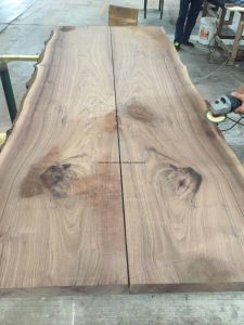 Walnut Book Matched Table Top pictures & photos