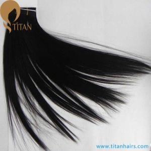 30% off Natural Black Straight Brazilian Vrigin Hair Weft pictures & photos