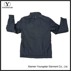 Navy Blue Parka Windproof Mens Parka Jacket with Hidden Hood pictures & photos