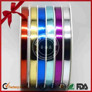 Metallic Multi-Slot Color Thin Curly Ribbon pictures & photos