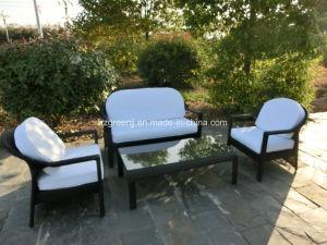 4 Pieces Conversation Sofa Set Rattan Wicker Outdoor Furniture pictures & photos