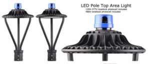 Post Top Lighting 100 Watt LED Post Top Light with UL cUL Dlc Listed pictures & photos