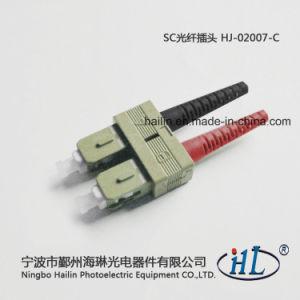 PE Sc 2.0mm Duplex Fiber Optic Connector with Ferrule pictures & photos