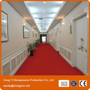 Hong Yi Good Quality Red Color Nonwoven Fabric Carpet