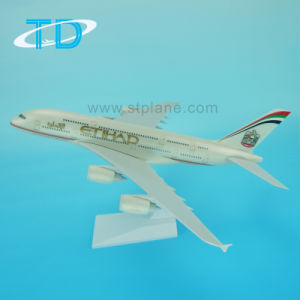 Plastic Craft A380 Etihad 37cm Passenger Plane Model for Business Gift pictures & photos