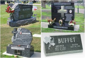 European Customized Carving Granite Cross Slab Monuments pictures & photos